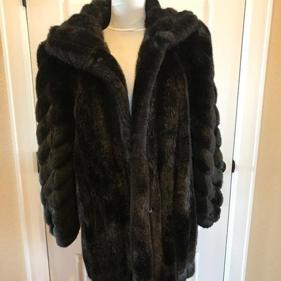 214976795 American Standard Jackets & Coats | American Signature Black Faux ...